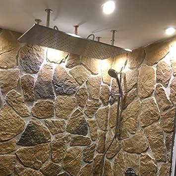 Bad Royal Wasserfall Dusche Regen Dusche 100x50cm Gebürsteter