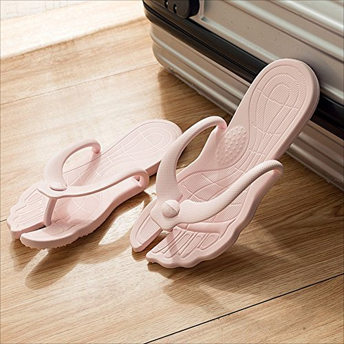 Beach Slippers Travel dark Outdoor Portable pink Non Damping Resort PVC Ms Sandals Gray Tourist slip Seaside Light light Pink Slippers Swimming Collapsible Shoes Blue Blue NAN 6q1Egxx