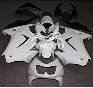 ZXMOTO Motorcycle Fairing Kit for Kawasaki NINJA 250R EX250 EX250J 2008 2009 2010 2011 2012 (Unpainted, Pieces/kit:15))