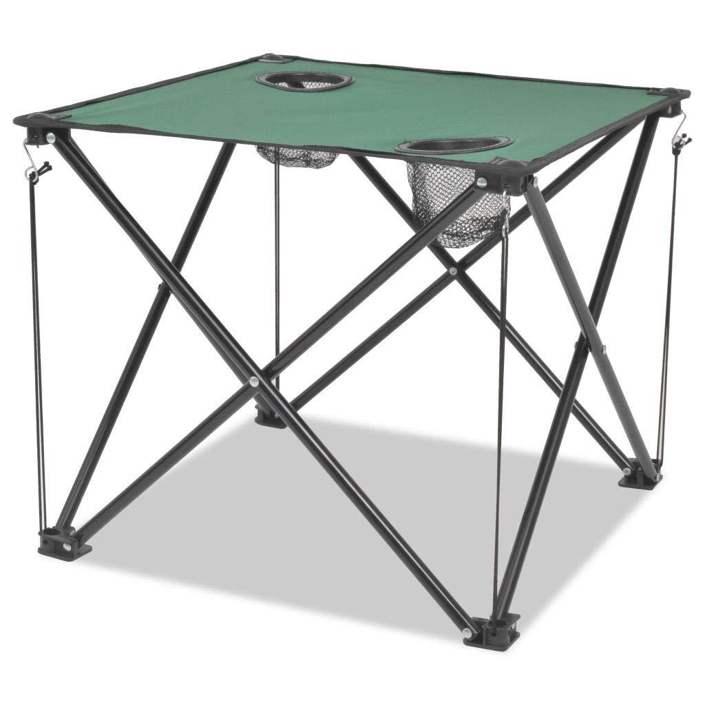 Xingshuoonline Campingstuhl Campingmöbel-Set 5-TLG. Klappbar Grün Stahl Faltstuhl Angelstuhl 45 x 45 x 70 cm