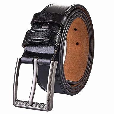 XDDQB Cinturon Hombre Cuero Piel Hebillas Jeans Reversible Trabajo ...