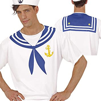 NET TOYS Disfraz Marinero Traje Marino XL 54 Ropa navegante Camisa ...
