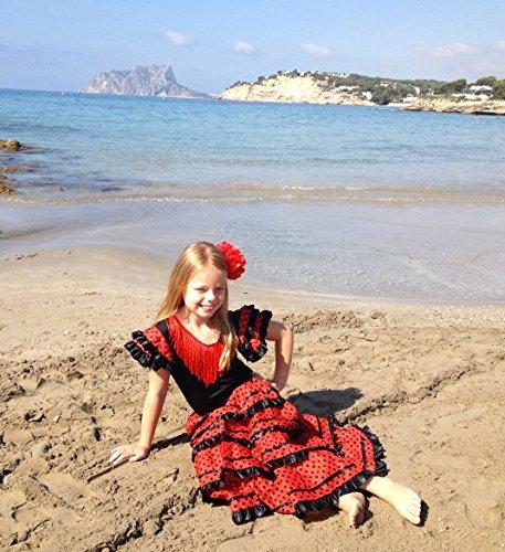 0238f5176 La Senorita Spanish Flamenco Dress Fancy Dress Costume - Girls Kids ...