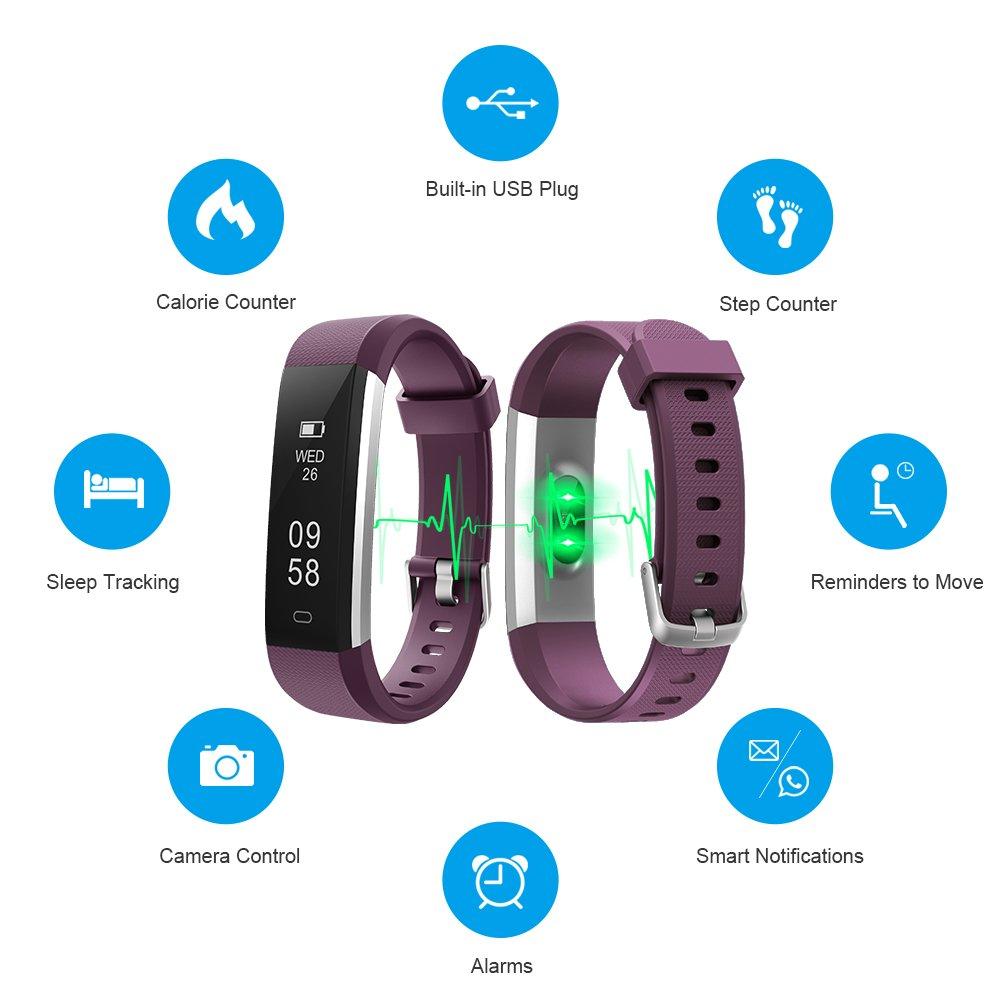 Amazon.com: LETSCOM - Reloj de pulsera con monitor de ...