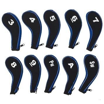 Haga clic Sports número impresión de 10 fundas para cabezas ...