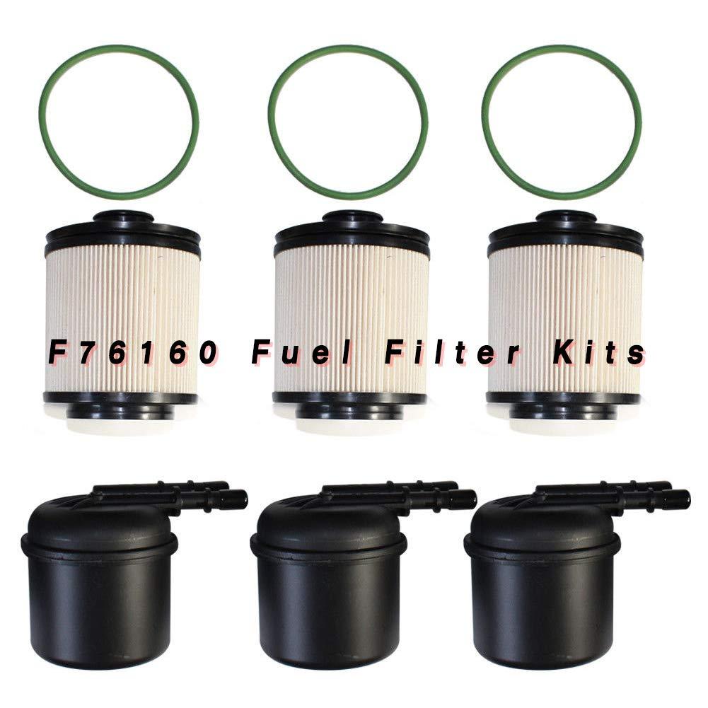 amazon com: fuel filter tbvechi 3pcs car f76160 fuel filter kit for ford f-250  f-350 f-450 f-550 super duty: automotive