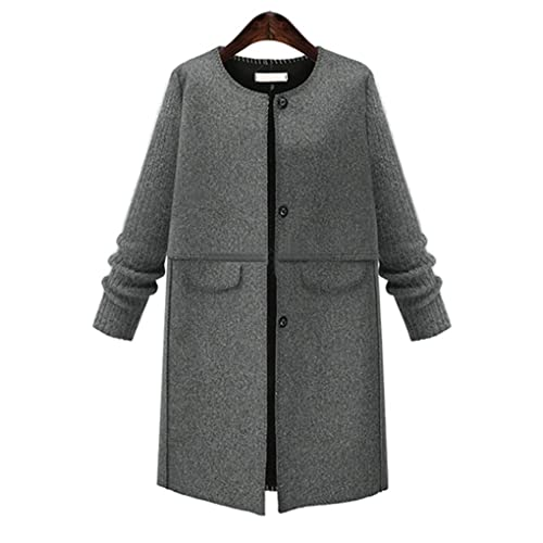 Ranboo Chaquetas casuales invierno de punto de patchwork mujer abrigos de Outwear