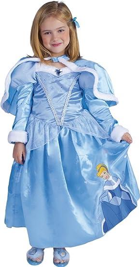 Princesas Disney - Disfraz de Cenicienta de Invierno para niña ... d7f7dcf250a