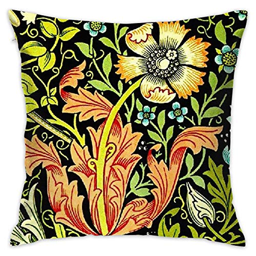 TingsCity Will Morris Modern Printed Decorative Pillow/Chair Sofa Pillow/Hold Pillow - Washable Removable Cover,Many Colors ()