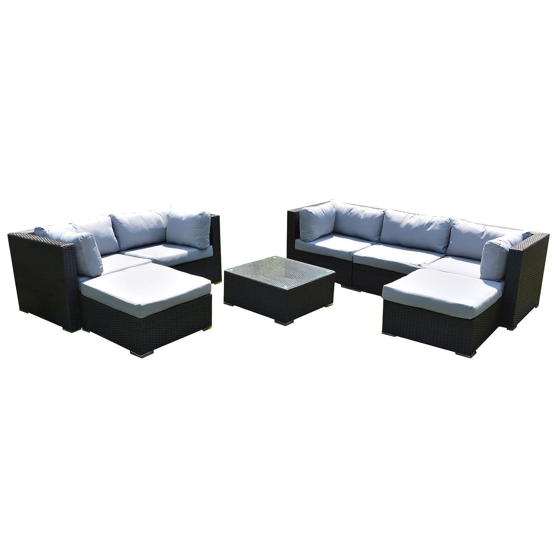 SSITG Polyrattan Lounge Sitzgruppe Gartenmöbel Garnitur Poly Rattan Sitzplätze