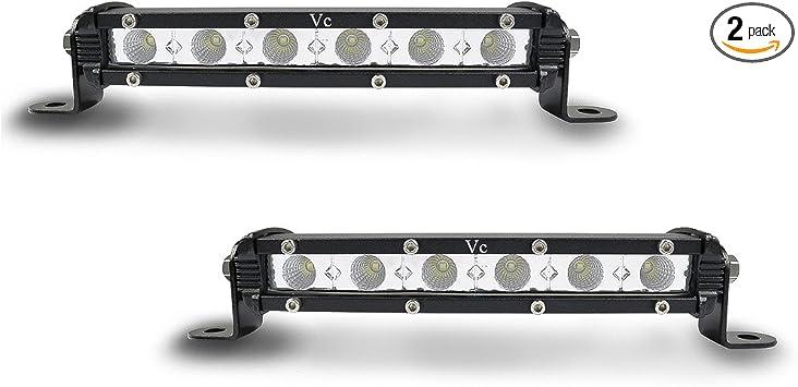 "1Pair 7/"" 18w Spot Slim Led SUV Driving Work Light Bar Single Row Offroad Lamp"