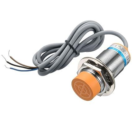 sourcing map 15mm Interruptor del sensor de proximidad inductivo PNP NO DC6-36V 300mA lj30A3