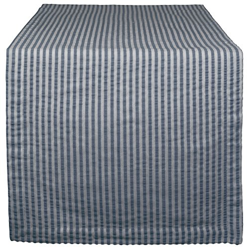 - DII Cotton Seersucker Striped Table Runner for Dinning Room, Entryway Weddings, Parties and Everyday Use, 14x108