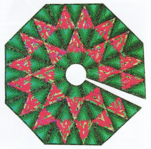 Diamond Log Cabin Tree Skirt - Foundation Paper Piecing Patterns ? 45 1/2
