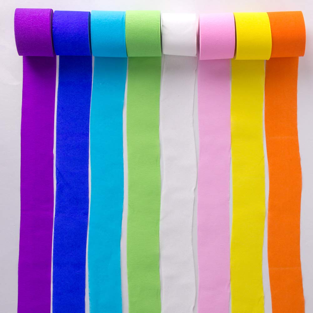 6 Rolls Birthday Party Wedding Festival Graduation Ceremony Party Decorations Easy Joy 82ft Crepe Paper Streamers Light Green