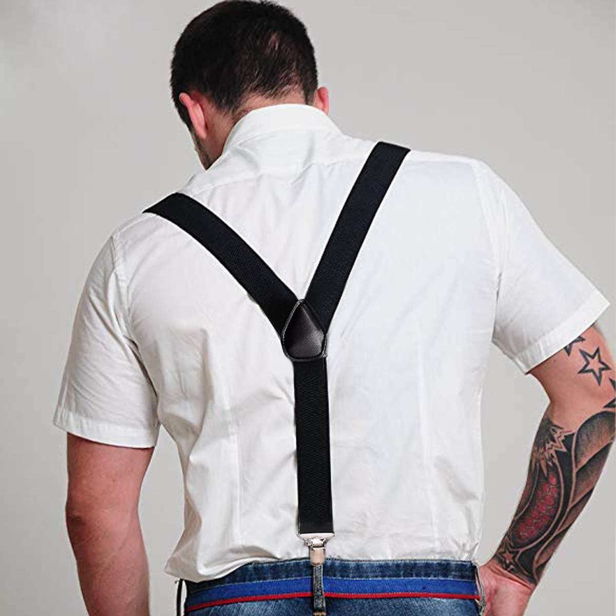 Bracers Pantalones Tiras El/ásticas Ajustable y El/ástico Cruz Tirantes Para Pantalones Moto Pantalones Negro