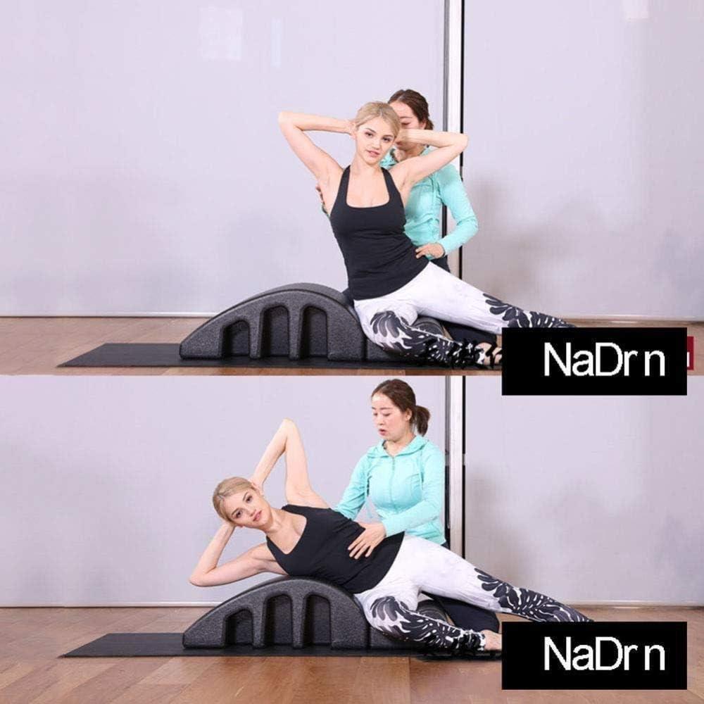 YF-SURINA Cama de masaje de gimnasio Cama de yoga Pilates Cama de masaje de arco de Pilates, Cama de masaje de pulas de yoga multiusos, Corrector de columna desmontable Espuma Ortesis espinal Moldead