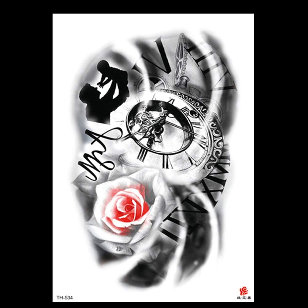 1 piezas pegatinas de tatuaje flor brazo tatuaje pegatinas ...