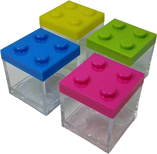 12 PIEZAS Caja plexiglás bolsas para peladillas Lego MULTICOLOR ...