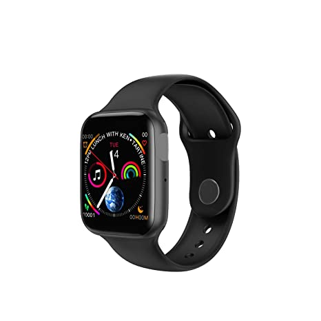 Smart Watch Men Heart Rate Smart Watch for Apple iOS,Iwo 8 Plus Black