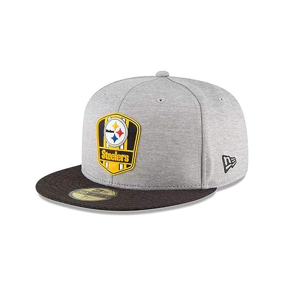 New Era Men Caps Fitted Cap NFL Pittsburgh Steelers 59 Fifty Grey - 535553 7 9ad1cb6b5cca