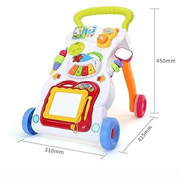 Goodvk Caminante de música para bebés o niños pequeños Empuje ...