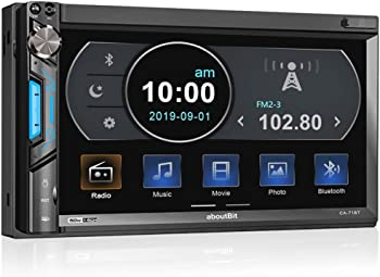 aboutBit Double Din Digital Multimedia Touch Screen Car Stereo Receiver