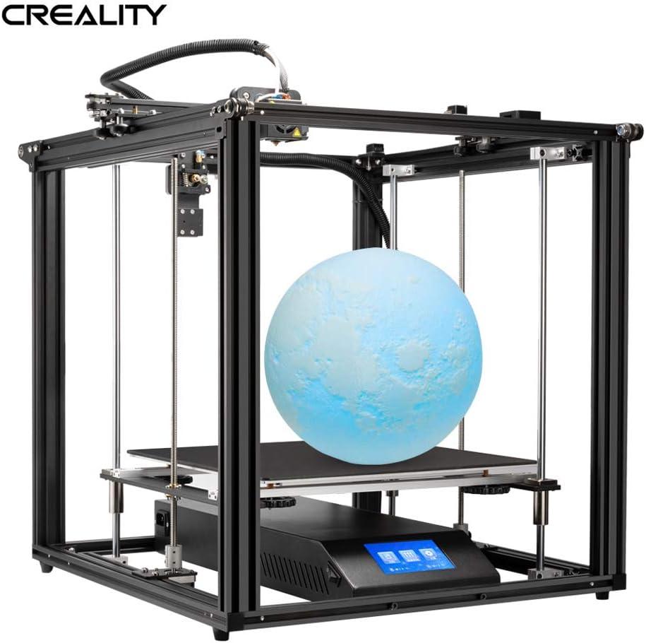 Creality 3D Ender-5 Plus 3DプリンターDIYキット350 * 350 * 400mm 4.3インチタッチスクリーンリムーバブル強化ガラスプレート付きの大容量ビルドダブルY軸Z軸強力な電源サポート8 GB TFカードホワイトによる自動レベリング/レジューム印刷/フィラメント検出PLAサンプルフィラメント200g