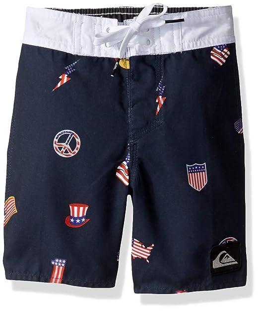 4e58966e9c Quiksilver Little Everyday HOT Dog BOY 14 Boardshort Swim Trunk, Navy  Blazer, 2