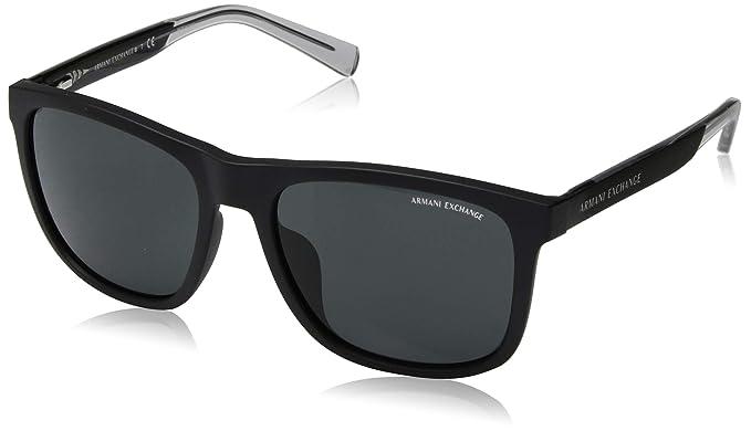 df8c2a7972be Armani Exchange Men's 0ax4049sf Non-Polarized Iridium Square Sunglasses,  matte black, ...