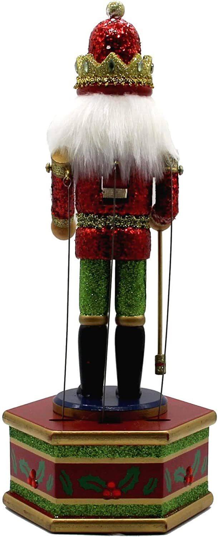 13 Musical Nutcracker Wooden Music Box Puppet w//Staff