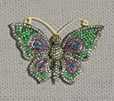 Beautiful Diamond Borches. 92.5 Silver Gemstone Pave Diamond borches, Butterfly shape Beautiful Diamond Jewelry