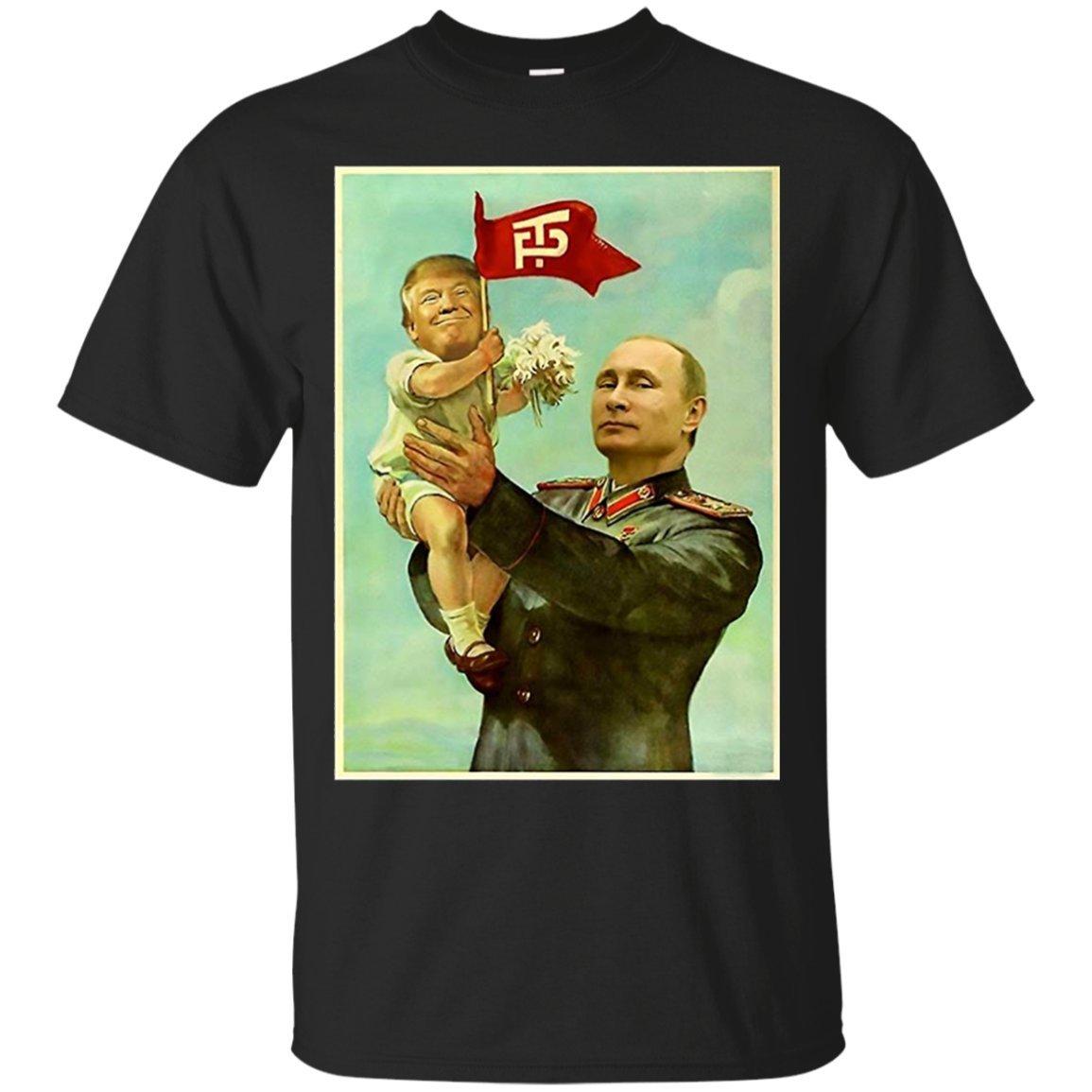 Tee4you Funny Baby Trump Putin 2017 T Shirt 7886