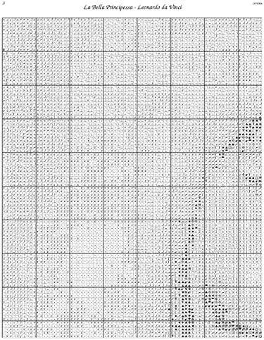 Scarlet Quince DVI004lg La Bella Principessa by Leonardo da Vinci Counted Cross Stitch Chart Large Size Symbols