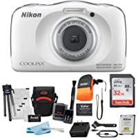 Nikon Coolpix W150 Digital Camera (White) with 32GB Card, Battery, Case, Floating Strap and Accessory Bundle (5 Items)