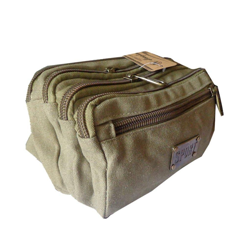 Meanhoo Extreme Zipper Waist Bag Outdoor Sports Fanny Pack Waist Pack Pouch Hip Belt, Running Belt Bag Pouch Fanny Pack for Hiking Cycling Climbing Travel - Kahki by Meanhoo