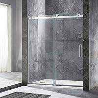 WOODBRIDGE MSDF6076-B Frameless Sliding Shower Door, 56