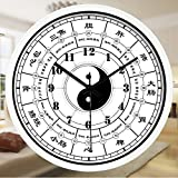 Znzbzt Simple Creative Mute Wall Clock Traditional Chinese Foot spa and Massage parlors in The Hospital Ward 医 feng Shui Decorative Wall Clock Mute Watches, 14 inch, Radi
