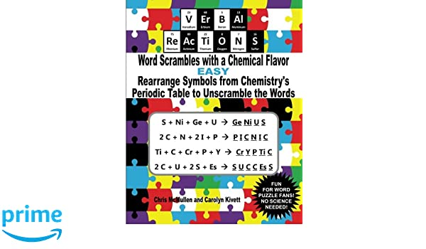 VErBAl ReAcTiONS Word Scrambles With A Chemical Flavor