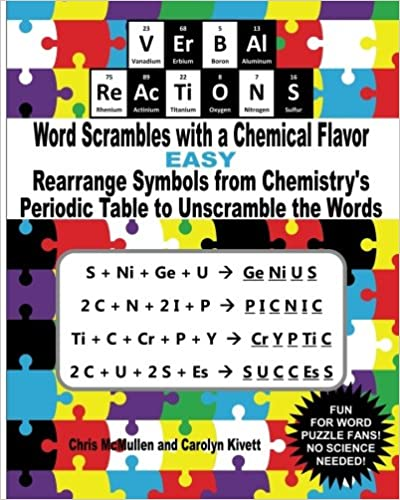 Verbal Reactions Word Scrambles With A Chemical Flavor Easy