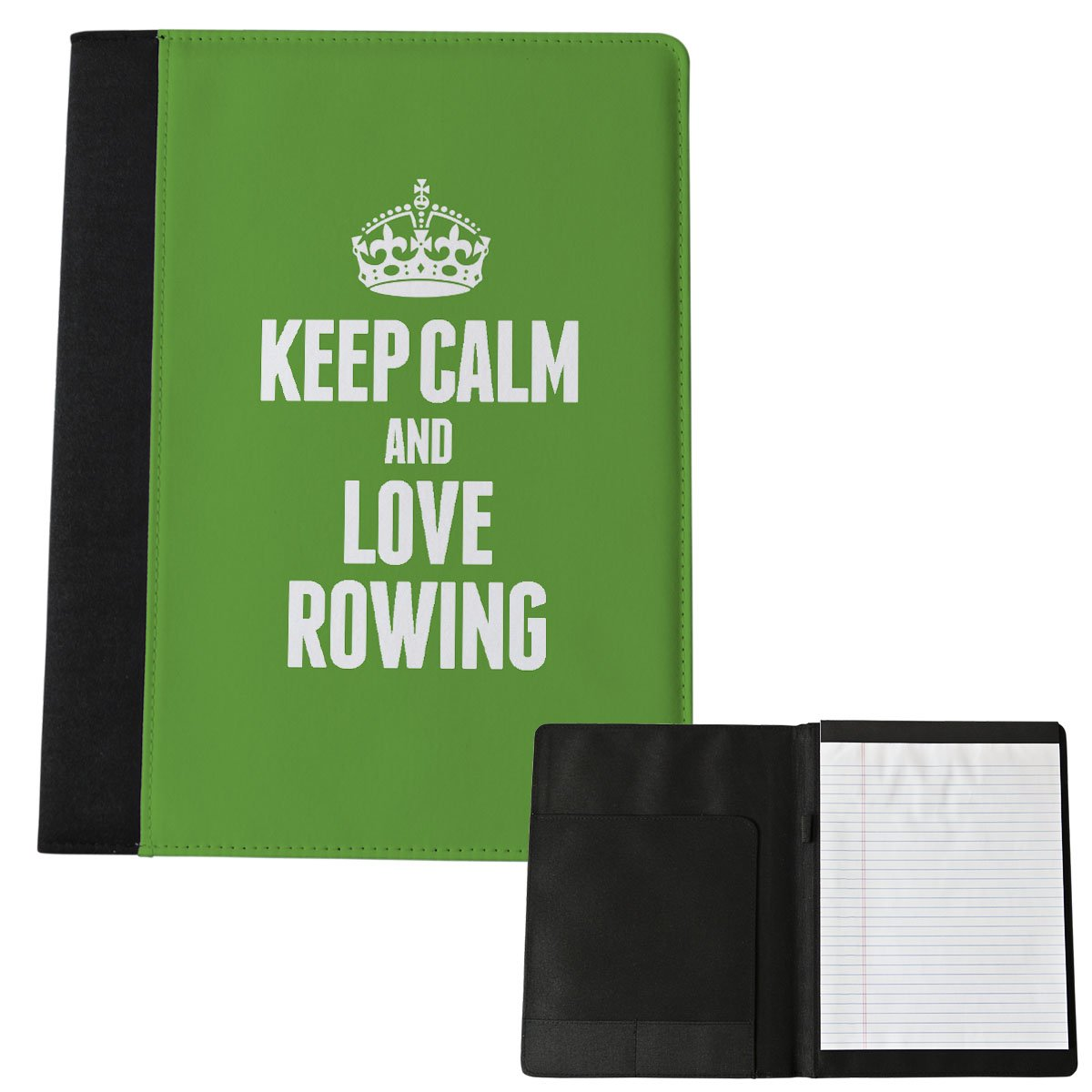 Grün Keep Calm and Love Rudern Notizblock Groß 1872 Duke Gifts