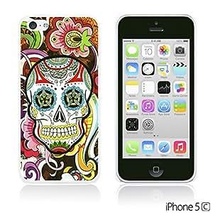 OnlineBestDigital - Skull Pattern Hardback Case for Apple iPhone 5C - Floral Skull
