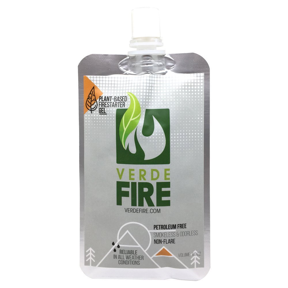 Fire Starter Gel (5-Pouch Pack) Instant Lighting Gel for Campfires, Barbecue, Emergency Survival | Non-Toxic, Smokeless & Natural - All Weather Fire Gel (5)