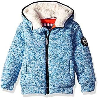 Ben Sherman Boys' Toddler Sweater Fleece Jacket, Heather Blue, 2T
