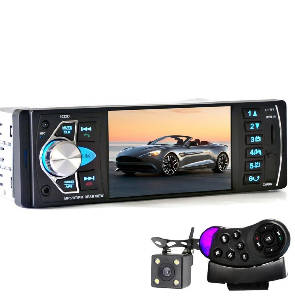Sannysis Car Video Radio 4 pulgadas HD TFT pantalla Bluetooth / Radio FM esté reo / MP4 / MP5 + Control Remoto del Volante + Cá mara