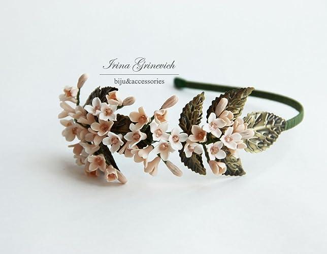Amazon Com Accessories For Women Handmade Headband Beige Hair