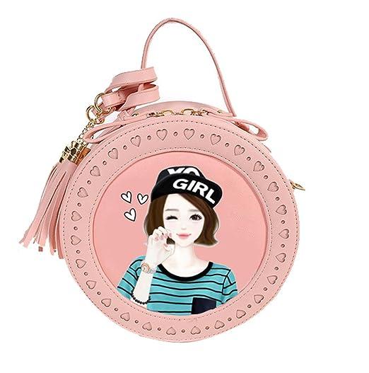 Handtasche Druck Jund Leder Mädchen Kawaii Mode Pu WYH9I2DE
