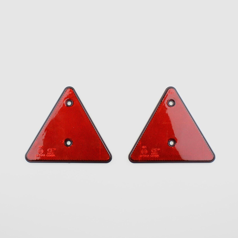 Benson 2 X Rückstrahler Anhänger Rot Dreieckreflektoren Katzenauge Wohnwagen Pkw Auto