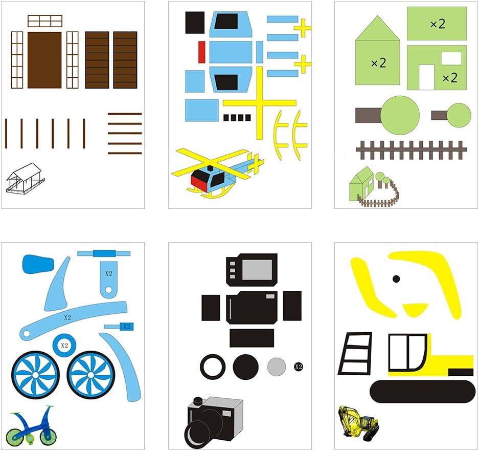 Mugast 20pcs 3D Papier Mod/èles Papier dimpression Sp/écifi/é pour Stylo 3D Id/éale pour Enfants DIY