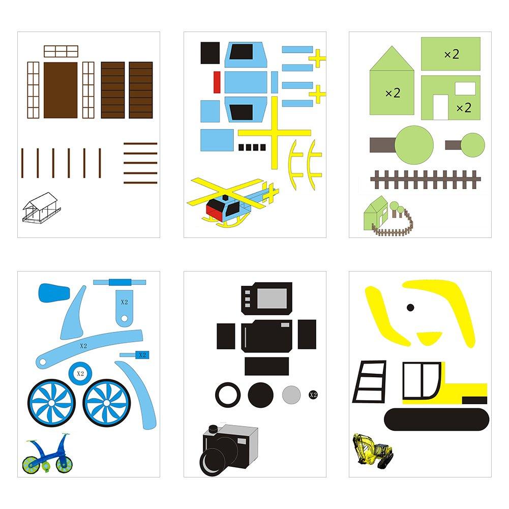 20pcs papel de dibujo de la impresora 3D, moldes de papel de la ...